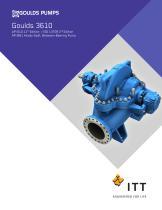 Goulds 3610 Axially-Split, Between-Bearing Pump - 1