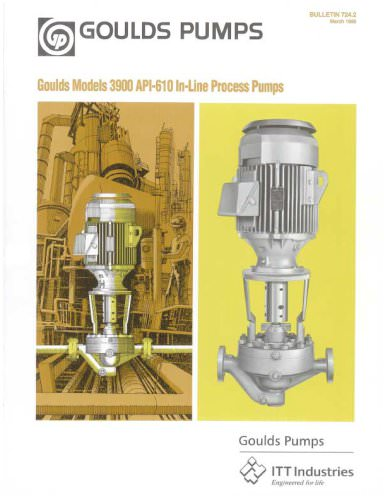 Goulds 3900/3901 API-610 In-Line Process Pumps