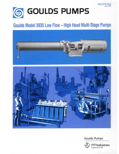 Goulds 3935 Low Flow - High Head Multi-Stage Pumps