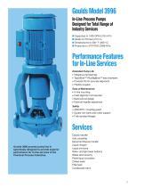 Goulds 3996 In-Line Process Pumps - 2