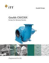 Goulds CW/CWX Pumps for Abrasive Slurries - 1