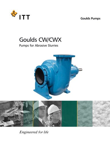 Goulds CW/CWX Pumps for Abrasive Slurries