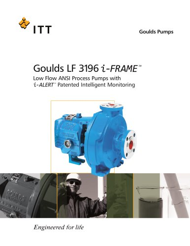 Goulds LF 3196 i-FRAME Low Flow ANSI Process Pumps