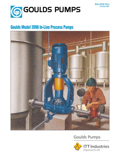 Goulds Model 3996 In-Line Process Pumps