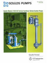 Goulds Models 5150/VJC Vertical Cantilever Bottom Suction Pumps - 1