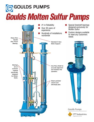 Goulds Molten Sulfur Pumps