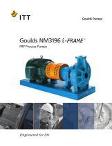 Goulds NM 3196 i-FRAME FRP Process Pumps - 1