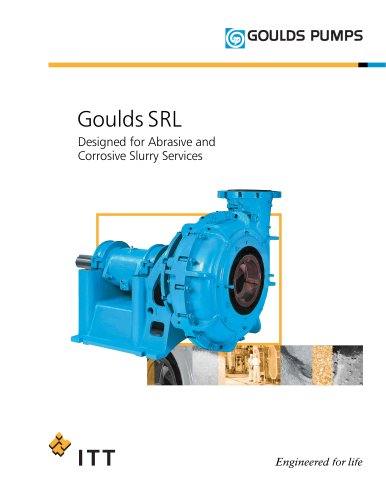 Goulds SRL Designed for Abrasive and Corrosive Slurry Services
