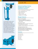 Goulds VRS Vertical Rubber-Lined Cantilever Pump Designed for Abrasive and Slurry Services - 2