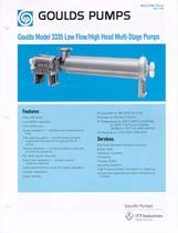 Multi-stage diffuser type pump 3335 - 1