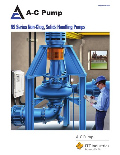 NS Series Non-Clog, Solids Handling Pumps
