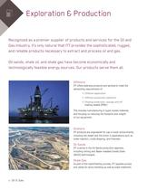 Products for the Oil and Gas Industry - 4