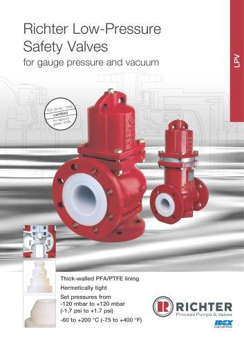 Low-pressure safety valves