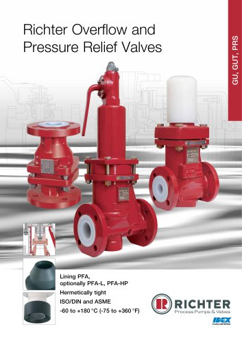 Overflow and Pressure Relief Valves