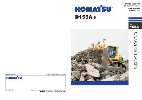 D155A -5 - Komatsu Construction and Mining Equipment - PDF
