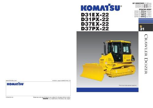 D31EX-22 / D31PX-22 / D37EX-22 / D37PX-22