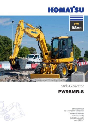 midi excavator PW98MR-8
