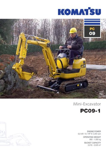 mini excavator PC09-1