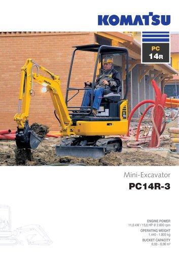 mini excavator PC14R-3