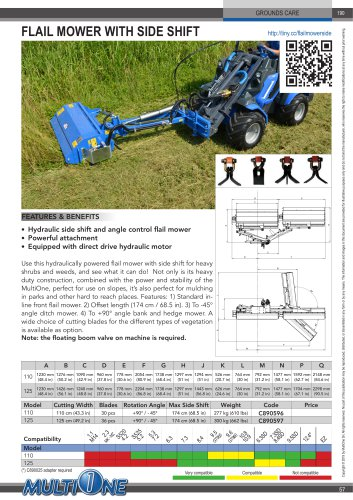 FLAIL MOWER WITH SIDE SHIFT