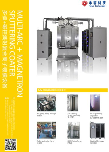 Royal Technology/Arc evaporation/DC/MF magnetron sputtering/thin film deposition