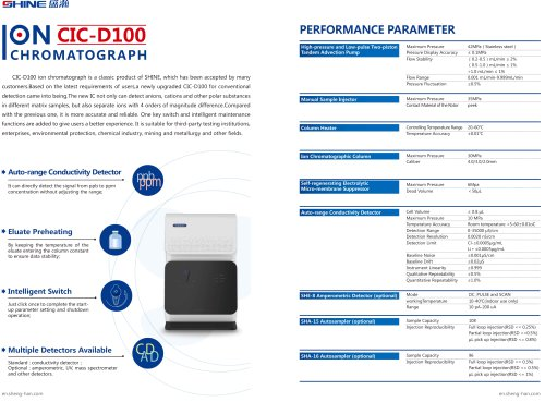 SHINE- Ion Chromatograph CIC-D100N