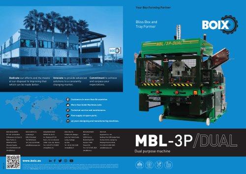 Boix MBL-3P Tray forming machine