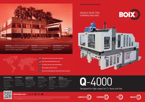 Boix Q-4000 Double Head Tray Forming Machine