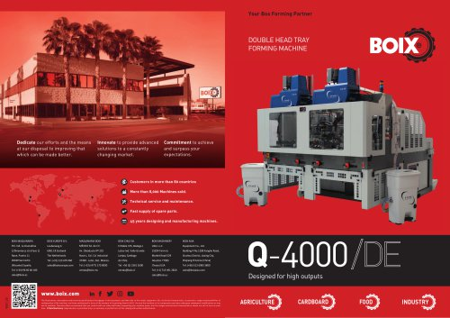 Double head tray forming machine Q-4000/DE