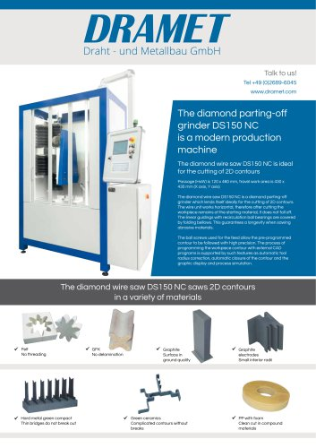 The diamond parting-off grinder DS150 NC