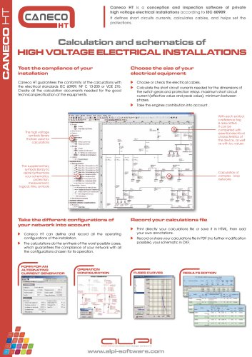 Caneco HT - software for high voltage engineering - ALPI