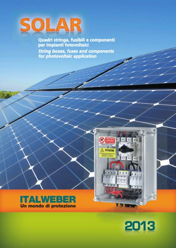 SOLAR - String boxes, fuses and components for photovoltaic application
