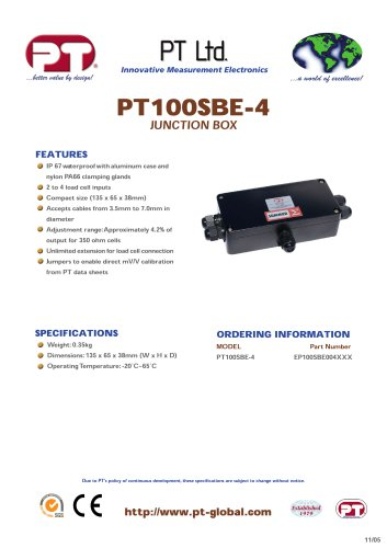 PT100SBE-4 IP67 Aluminum - Summer & Junction Boxes