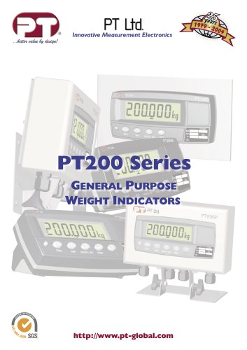 PT200 Series GENERAL PURPOSE WEIGHT INDICATORS