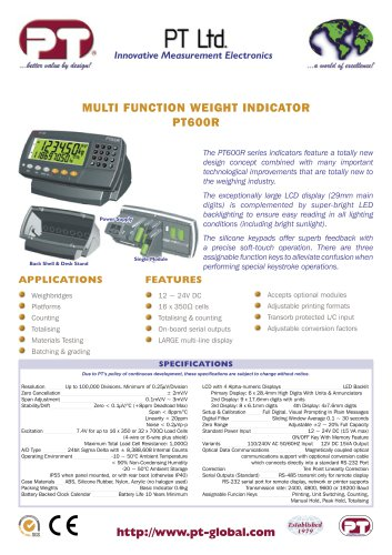 PT600R Advanced Function Digital Indicator