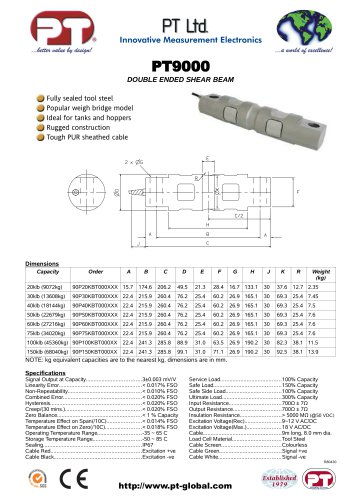 PT9000 Double ended shear beam