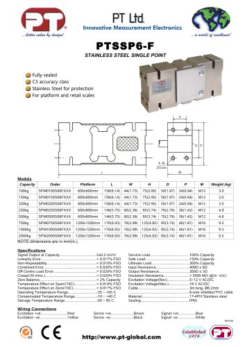 PTSSP6-F Brochure