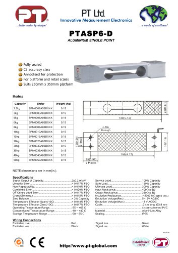 Single Point Load Cells-Aluminium, Low Cost, 250x350mm platform