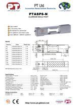 Single Point Load Cells-Aluminium, Low Cost, 400x400mm platform PTASP6-N - 1