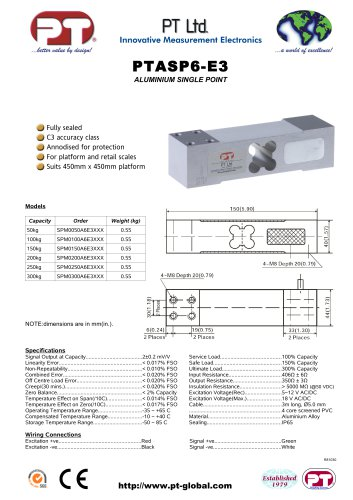 Single Point Load Cells-Aluminium, Low Cost, 450x450mm platform.