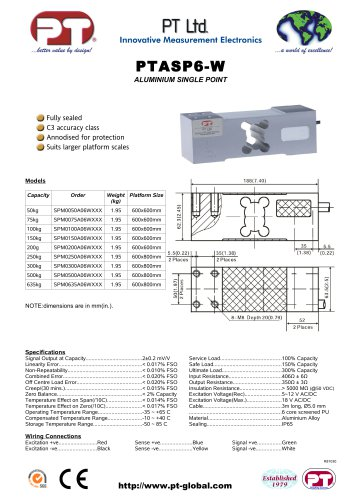 Single Point Load Cells-Aluminium, Low Cost, 600x600mm to 600x800mm platforms