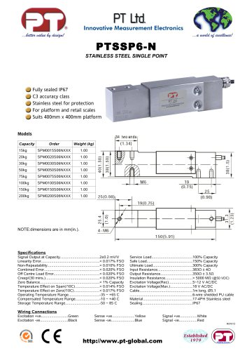 Single Point Load Cells-Stainless, Affordable, 400x400mm platform