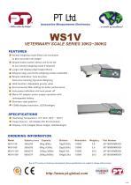 WS1V Veterinary Scale Brochure - 1
