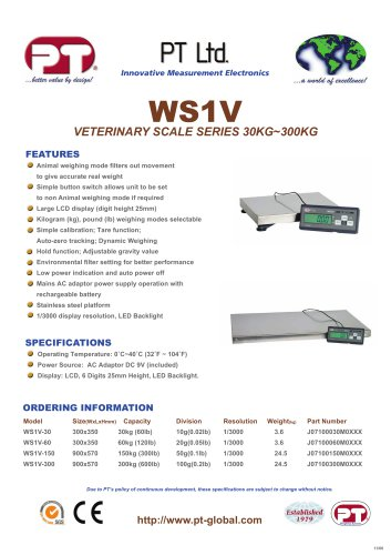 WS1V Veterinary Scale Brochure