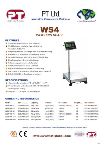 WS4 Weighing Scale Brochure