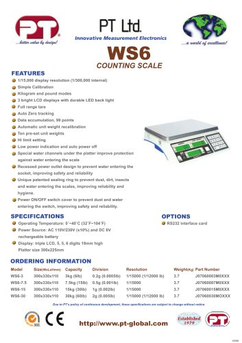 WS6 Counting Scale Brochure