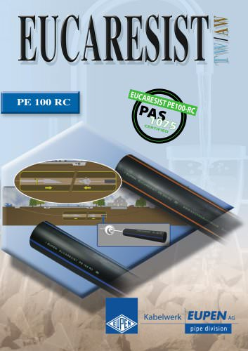 Piping system in PE100RC for alternative installation with high resistance to crack