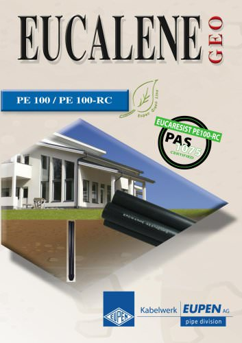 Piping systems in PE100 and PE100RC  for geothermal energy
