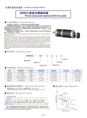 3 Channels Optical Encoder