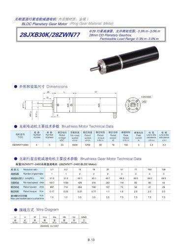 DYD-Brushless Gear Motor-28JXB30K/28ZWN77